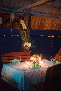 Private Dinners on the Pier at Chabil Mar! #belize