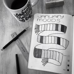 Easy Bullet Journal Ideas To Well Organize & Accelerate Your Ambitious Goals Bullet Journal Tracker, Bullet Journal Agenda, January Bullet Journal, Bullet Journal Hacks, Bullet Journal Aesthetic, Bullet Journal Ideas Pages, Bullet Journal Inspiration, Book Journal, Bullet Journals