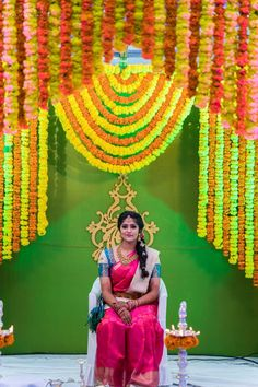 Ideas Floral Bridal Shower Ideas Events For 2019 Desi Wedding Decor, Wedding Stage Decorations, Wedding Mandap, Wedding Venues, Indian Baby Showers, Housewarming Decorations, Baby Shower Photography, Indian Marriage, Marriage Decoration