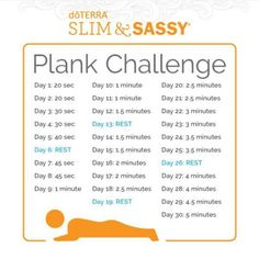 As you learn to hold a plank for an extended period of time you will strengthen your body decrease back pain improve your posture and gain mental endurance. Essential Oil Uses, Doterra Essential Oils, Doterra Slim And Sassy, Plank Challenge, Lose Weight, Weight Loss, Back Pain, How To Stay Healthy, Improve Yourself