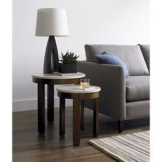 Crate & Barrel: Pastis Large Side Table with Drawer in Side, Coffee Tables   Crate and Barrel