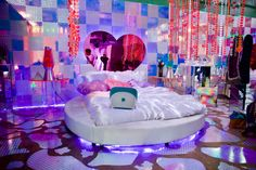 conceptual filmmaker and photographer Neon Bedroom, Bedroom Inspo, Teen Room Decor, Bedroom Decor, My Room, Dorm Room, Barbie Room, Chill Room, Room Goals