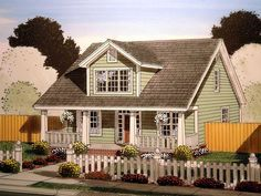 House Plan 61403 | Cape Cod   Country    Plan with 1871 Sq. Ft., 4 Bedrooms, 4 Bathrooms