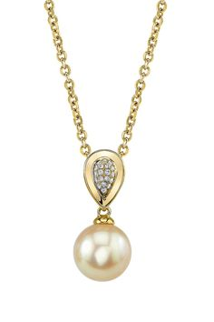 Golden South Sea Cultured Pearl & Diamond Alexandra Pendant Necklace in Gold, Women's, Size: gpend-alexandra-parent Pearl Jewelry, Gold Jewelry, Jewelery, Fine Jewelry, Diamond Pendant Necklace, Pearl Pendant, Pearl Necklace, Golden South Sea Pearls, Pretty Necklaces