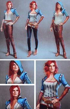 The Witcher 3 concept art → Triss Merigold