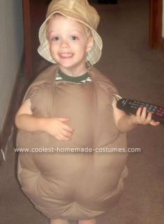 To make this Couch Potato costume I used a purchased poncho pattern. I bought a tan fleece with brown markings to resemble a potato. (Using fleece is a