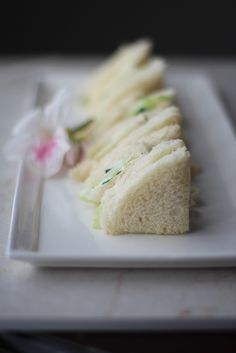 Cucumber Sandwiches, simple, light, not overwhelmingly over-seasoned.