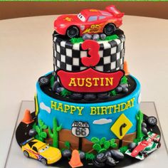My son's awesome Cars cake!