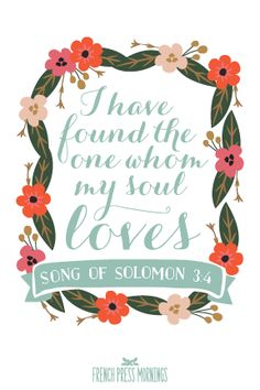 FREE Valentine's Day 4x6 Print to Download this week - Song of Solomon 3:4 - French Press Mornings
