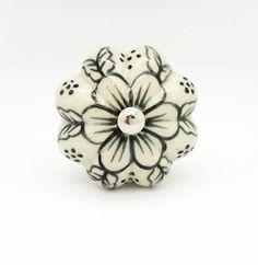 Hand Paint Ceramic Flower Knob Cupboard Kitchen Handle