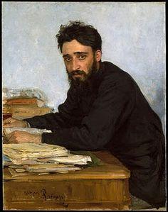 Ilya Repin - Portrait of writer Vsevolod Mikhailovich Garshin, 1884