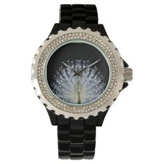 White Peacock Pavo Animalia wrist watch
