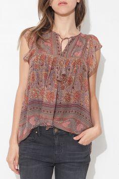 Silk Tapestry Kosta Blouse  by Ulla Johnson | shopheist.com