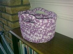 Upcycled Chunky Crochet Round Basket 23cm by TheHomemadeHaven, £18.00