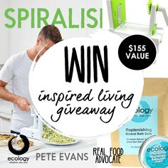 Inspired Living Giveaway Get Healthy, Healthy Habits, Pete Evans, Care Pack, Crossed Fingers, Real Food Recipes, Health Tips, Giveaway, Competition