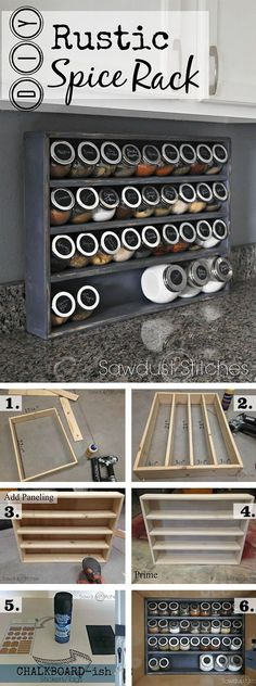 Easy Rustic DIY Spice Rack