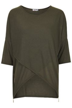 Wal G - Wide Fit Knitted Top - Khaki