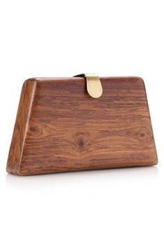 wooden clutch.