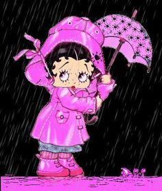 Let it rain Boop Gif, Hello Kitty, Betty Boop Cartoon, Betty Boop Pictures, Oui Oui, Little Pony, Cartoon Characters, My Idol, Cartoons