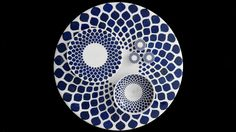 The Ruby Tree collection, table, bowl, pastry platter, therubytreecollection.com Bel Art, Islamic Patterns, Tree Designs, Ceramic Plates, Design Reference, Islamic Art, Decoration, Cobalt, Indigo