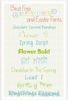 Free Fonts | Free Fonts Download Perfect for Spring