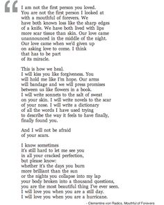 Mouthful of Forevers (via awelltraveledwoman) I can't lie, this brought me to tears
