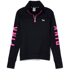 Victoria's Secret Ultimate Half-Zip,print ($55) ❤ liked on Polyvore featuring tops, jackets, outerwear, shirts, pattern shirts, graphic shirts, print shirts, graphic print shirts and zip shirt