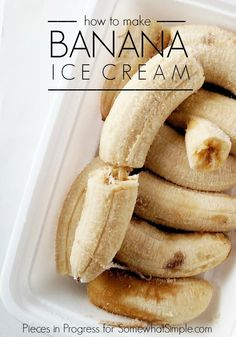 Frozen Banana Ice Cream (Only 2 Ingredients) Healthy Treats, Yummy Treats, Delicious Desserts, Sweet Treats, Eat Healthy, Cookie Desserts, Dessert Recipes, Dessert Dips, Banana Popsicles