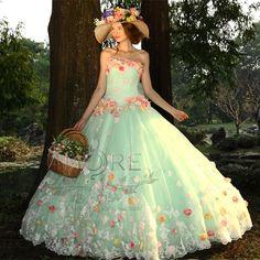 ウェディングドレス_ウエディングドレス_カラードレス_花ドレス(c116)|ROOM