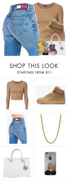 """""""👑🤔princess"""" by ayotheqveen ❤ liked on Polyvore featuring NIKE, Tommy Hilfiger, Linda Lee Johnson, Michael Kors and Versus"""