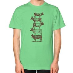 Cow Cow Nuts Unisex T-Shirt (on man)