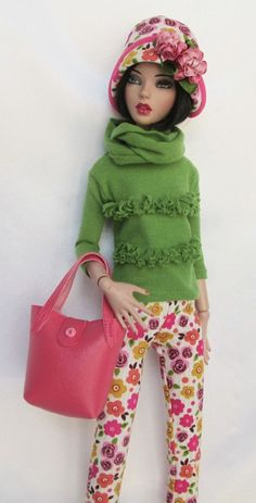 """SASSY IN SPRINGTIME OUTFIT!  FOR 16"""" TONNER DEJA VU. MADE BY SSDESIGNS"""