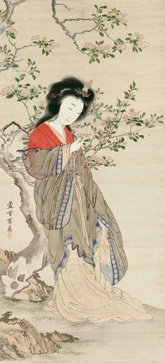 楊貴妃 長沢 芦雪は、江戸時代の絵師。(1754-1799)円山応挙の高弟。