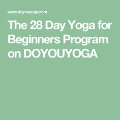 The 28 Day Yoga for Beginners Program on DOYOUYOGA