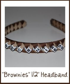 Yellow And Brown Brownies Match Uniform Hand Made Bow Bun Wrap