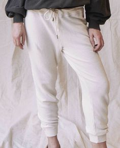 fa9ea943f089 The Cropped Sweatpant. -- Washed White