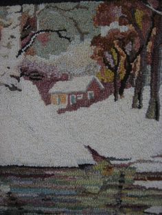 Detail of Hooked Rug - George Edward Trembley - 1950's