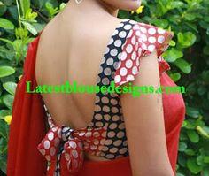polks dots ruffled saleeves blouse