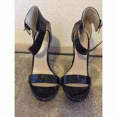Black ankle strap heels Ankle strap heels. Black, size 6. Worn once, in great condition and great for any outfit!! Shoes Heels