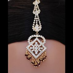 goldpolish white diamond tikka-1156