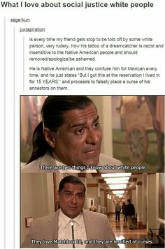 """Funny this about that story is the technically all """"Mexican"""" people are descended from the Spanish and the Native Peoples."""