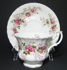 vintage royal doulton china patterns | Royal Albert Lavender Rose Tea Cup and Saucer