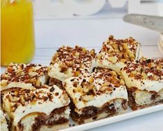 Jedinečný chuťový zážitok v podobe smotanového zákusku s pudingom Pudding Desserts, Pudding Cake, Party Desserts, Sweets Cake, Cupcake Cakes, Czech Recipes, Hungarian Recipes, Cake Flavors, Pie Dessert