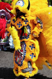 Mardi Gras Indians, 2012: Wild Man of the Comanche Hunters.