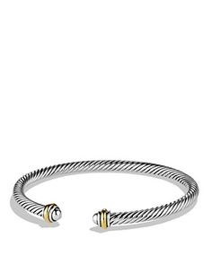 David Yurman Cable Classics Bracelet with Gold | Bloomingdale's