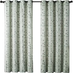 VCNY Jasmine Embroidered Blackout Single Curtain Panel Color: Blue