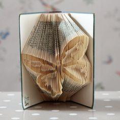 Butterfly Folded Book Art Sculpture
