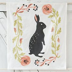 Spring Bunny Tea Towel in House+Home KITCHEN+DINING Linens at Terrain