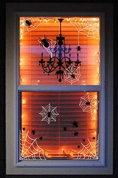 These Halloween window decor ideas are the perfect finishing touch to your haunted house. If you're looking for fun, spooky Halloween window clings, look no further. Diy Halloween Window Decorations, Halloween Window Clings, Halloween Wall Decor, Easy Decorations, Decor Ideas, Spooky Decor, Spooky Halloween, Dollar Store Halloween, Outdoor Halloween