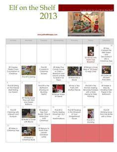 Elf-on-the-Shelf-Calendar-2013.jpg 1,275×1,651 pixels